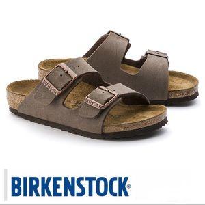 BIRKENSTOCK Arizona Kids Birkibuc Moca Sandal Sz32